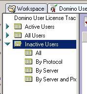 in extending domino user license tracking
