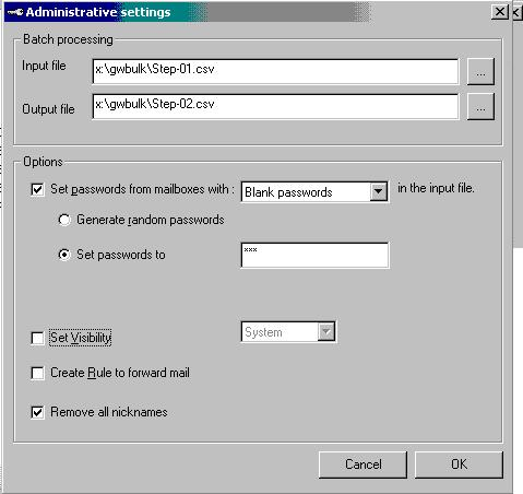 in groupwise 6 to exchange 2003 migration